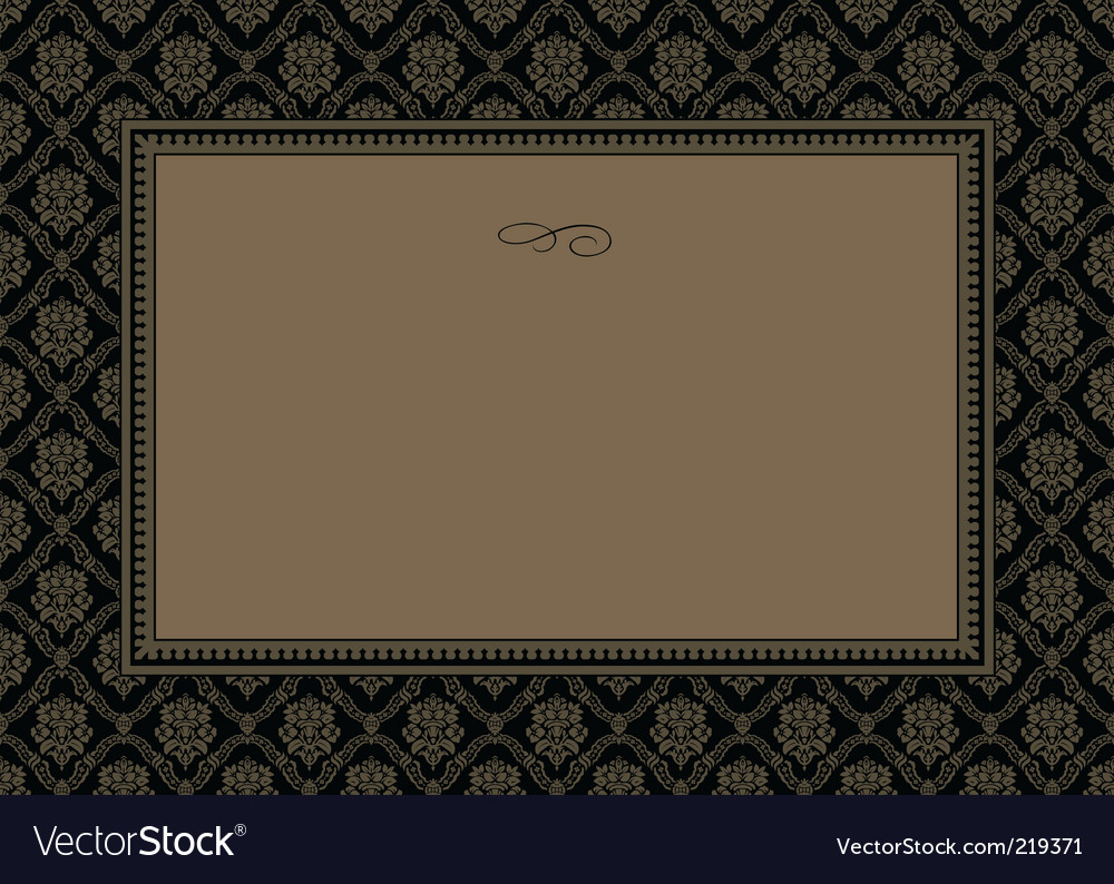 Gold pattern and frame vector | Price: 1 Credit (USD $1)