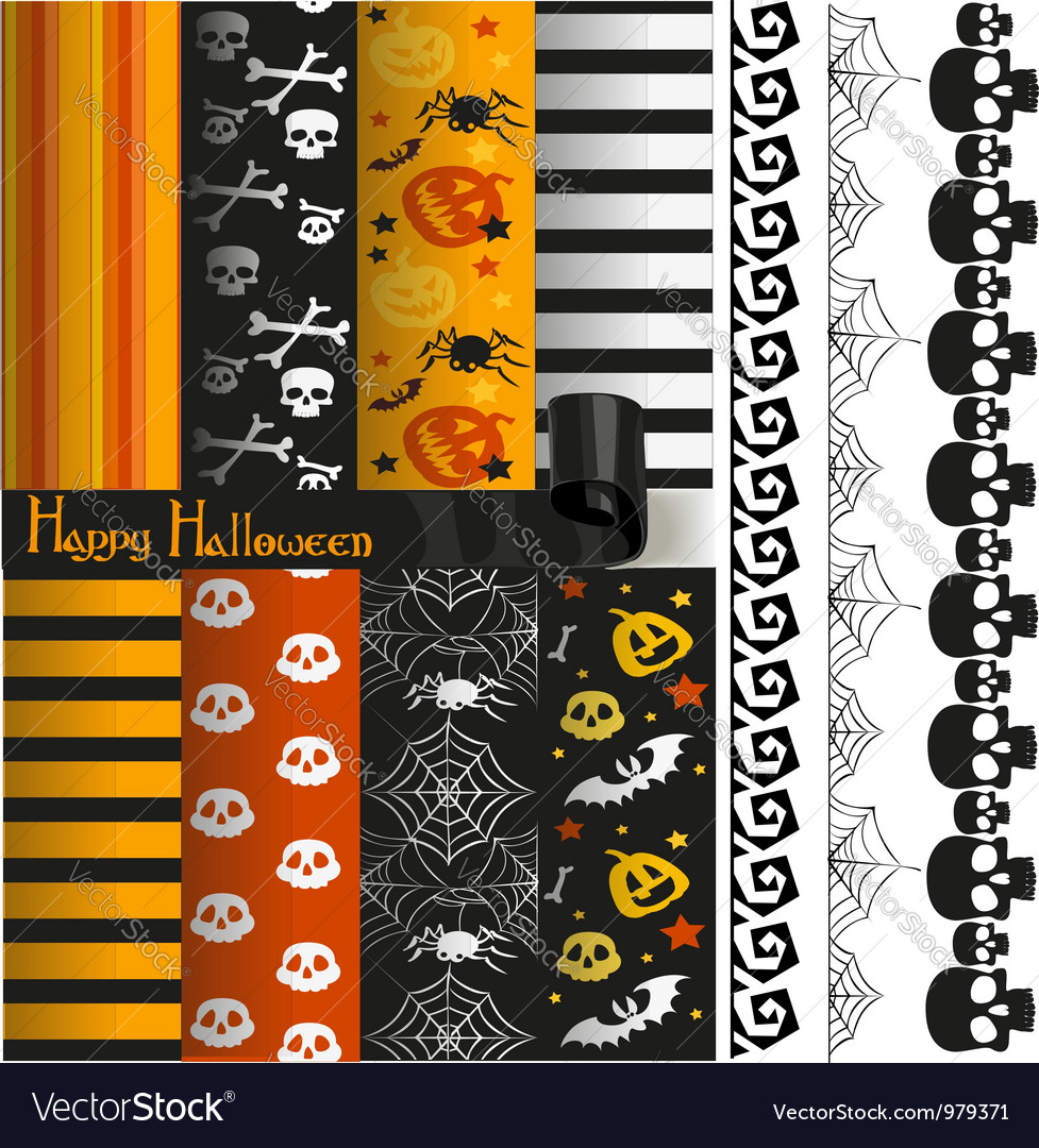Happy halloween paper and lace for scrapbook vector | Price: 1 Credit (USD $1)