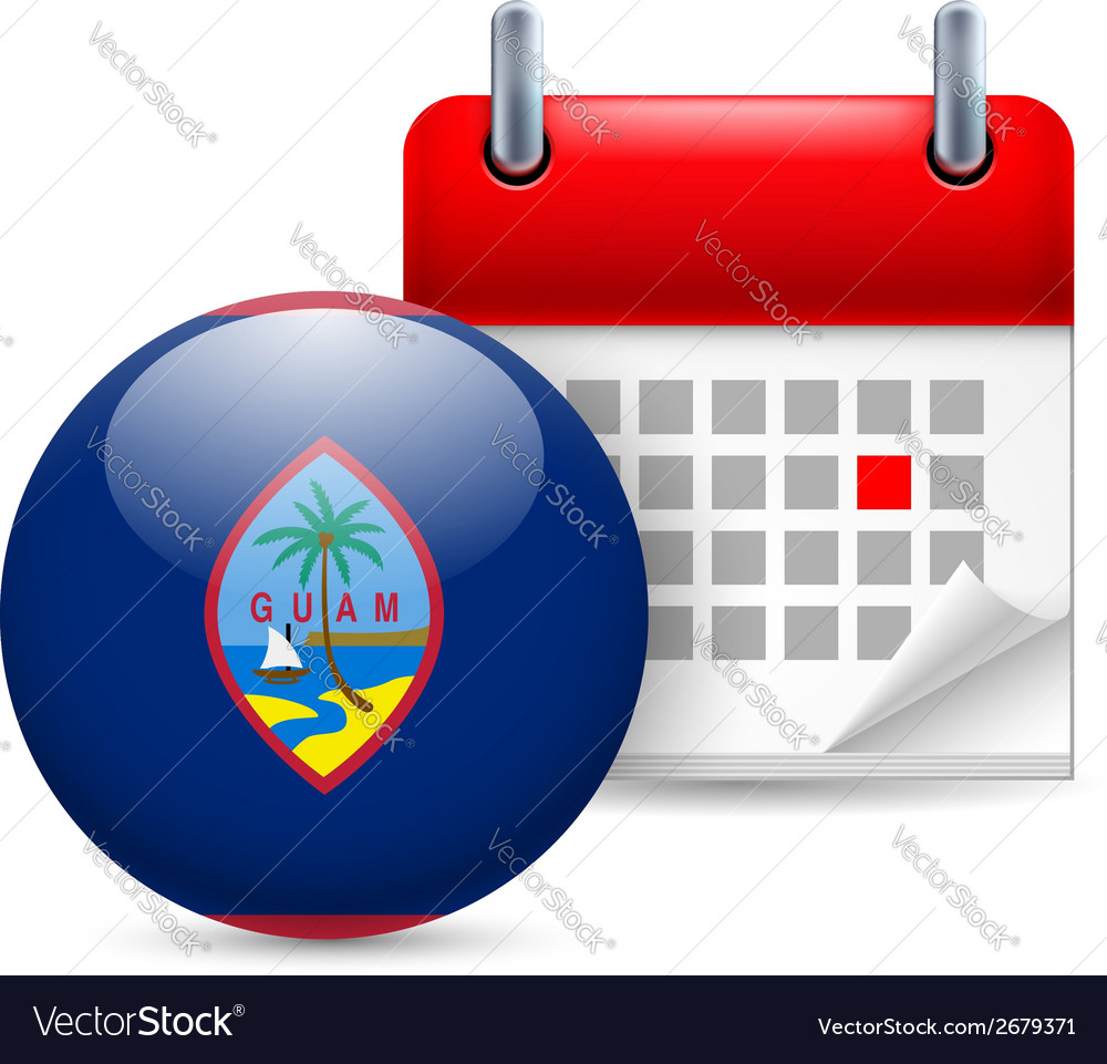 Icon of national day in guam vector | Price: 1 Credit (USD $1)