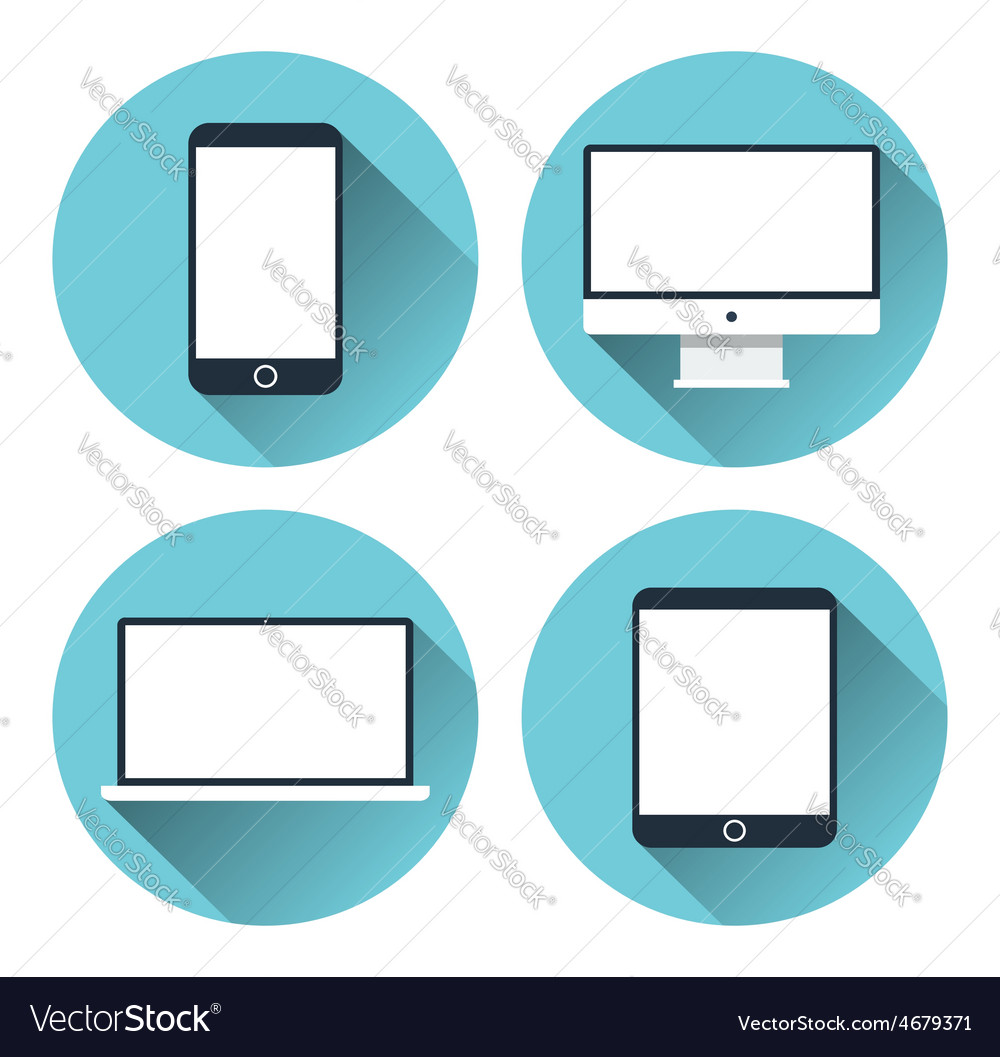 Modern electronic devices icon set vector | Price: 1 Credit (USD $1)