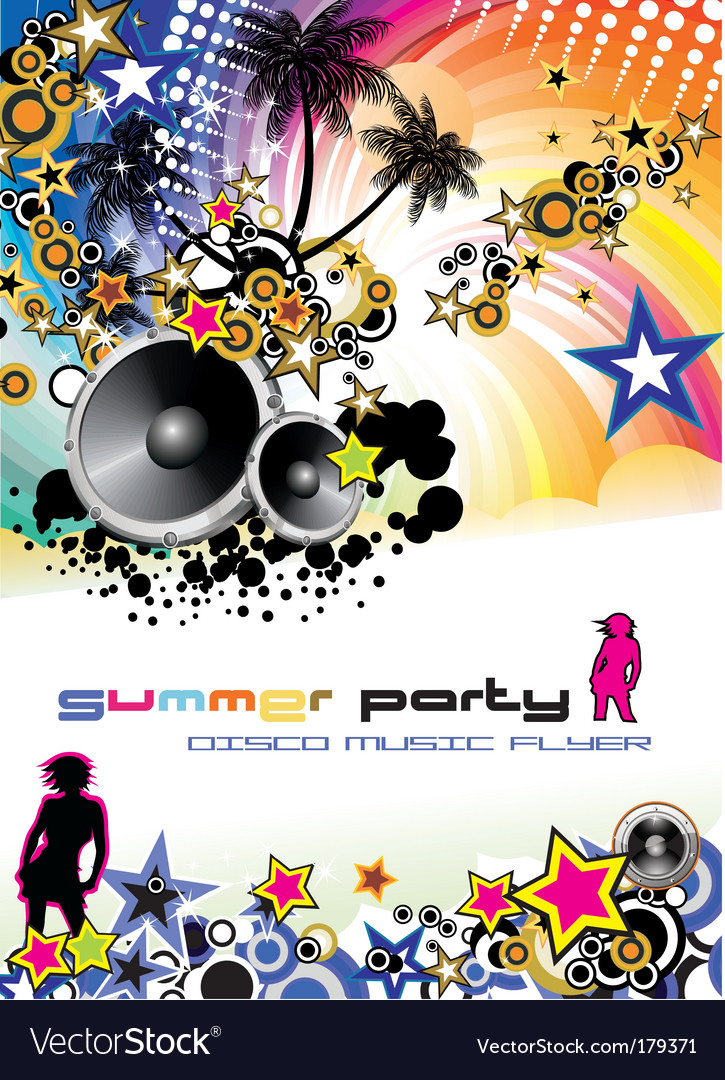 Music event discotheque dj flyer vector | Price: 3 Credit (USD $3)