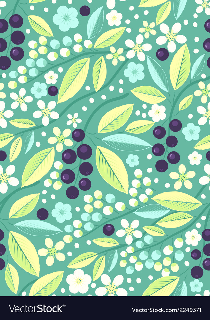 Seamless fruit pattern with blackcurrant vector   Price: 1 Credit (USD $1)