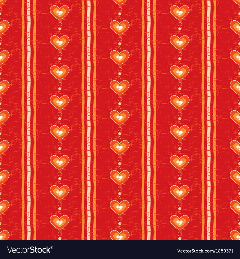 Seamless red heart background vector | Price: 1 Credit (USD $1)