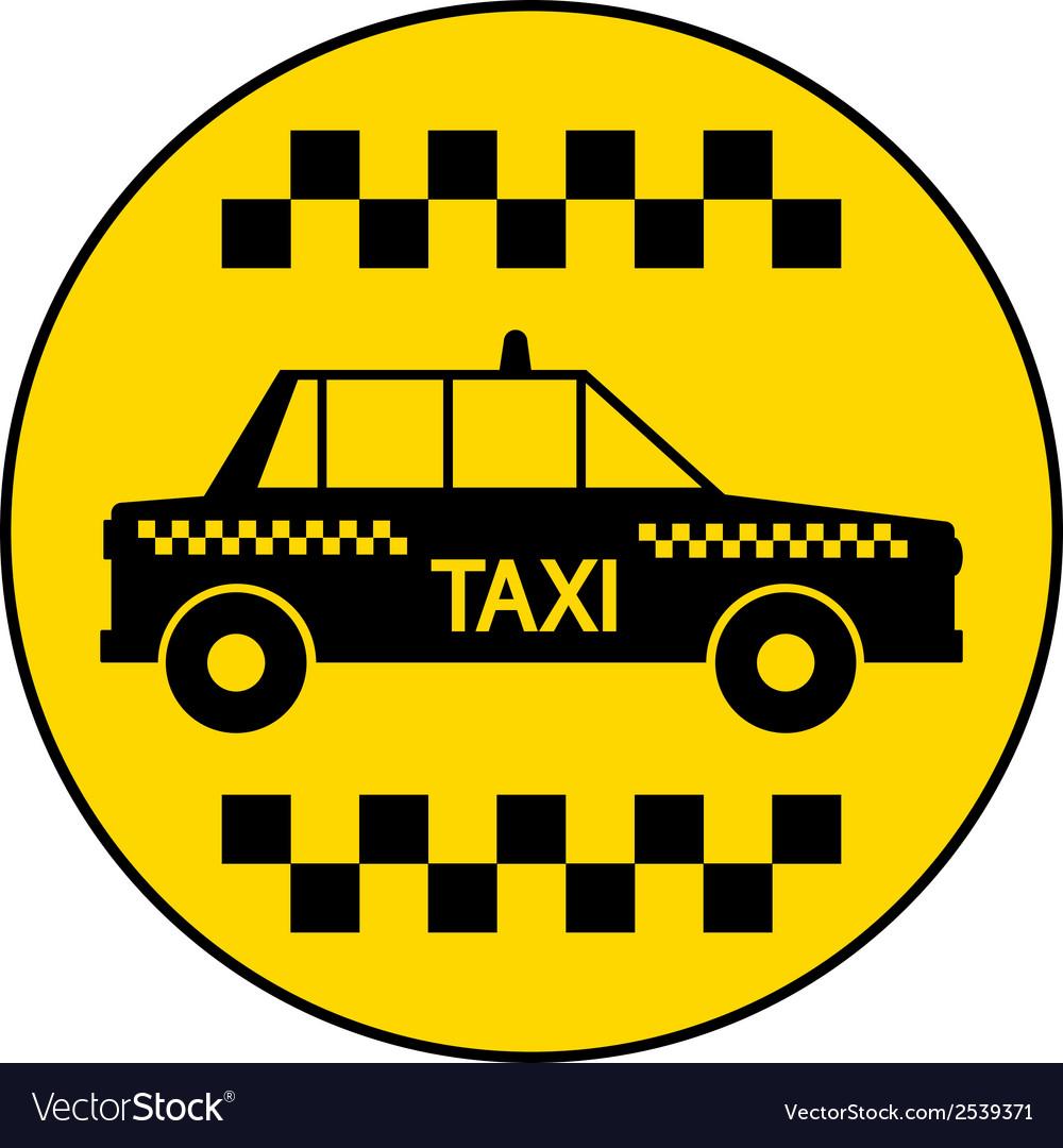 Taxi car button vector   Price: 1 Credit (USD $1)