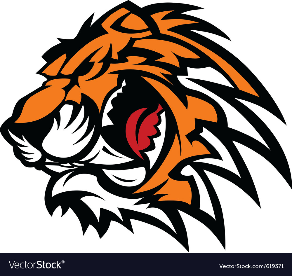 Tiger mascot graphic vector | Price: 3 Credit (USD $3)