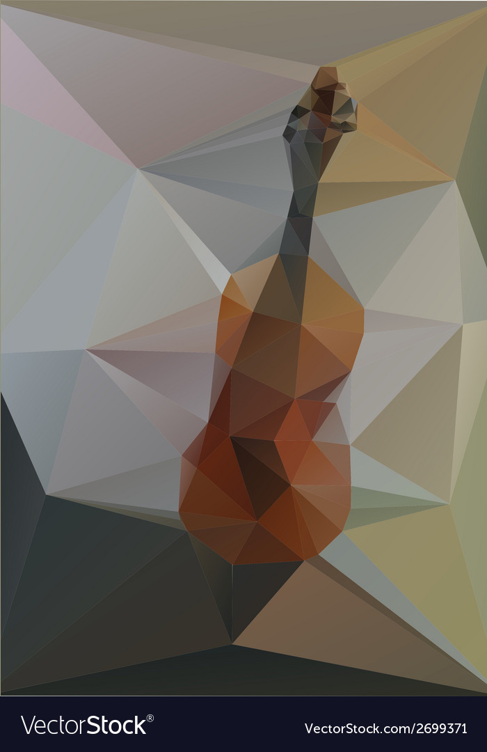 Violin geometry of triangles on a gray background vector | Price: 1 Credit (USD $1)