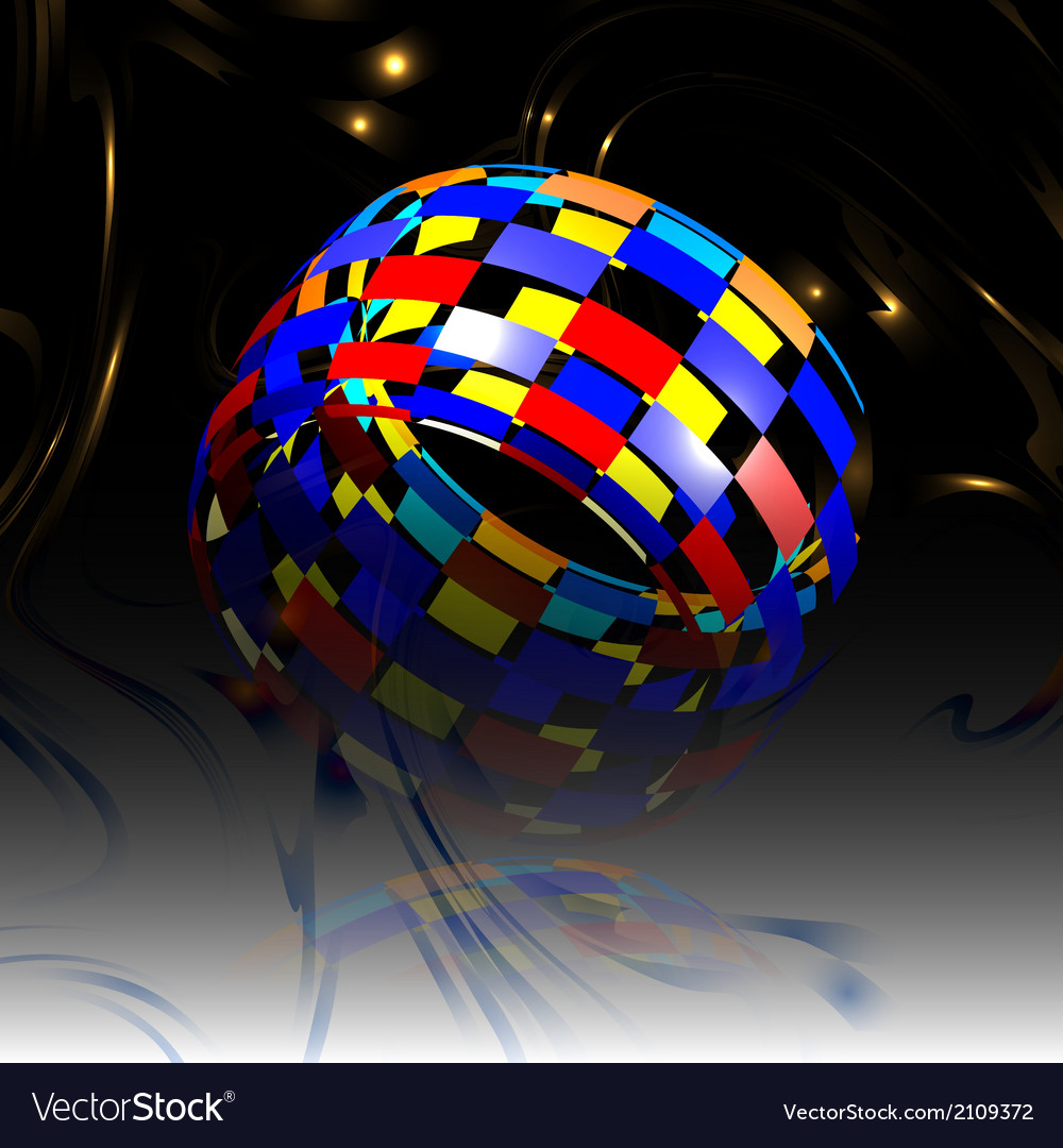 Abstract background with colored hemisphere vector | Price: 1 Credit (USD $1)
