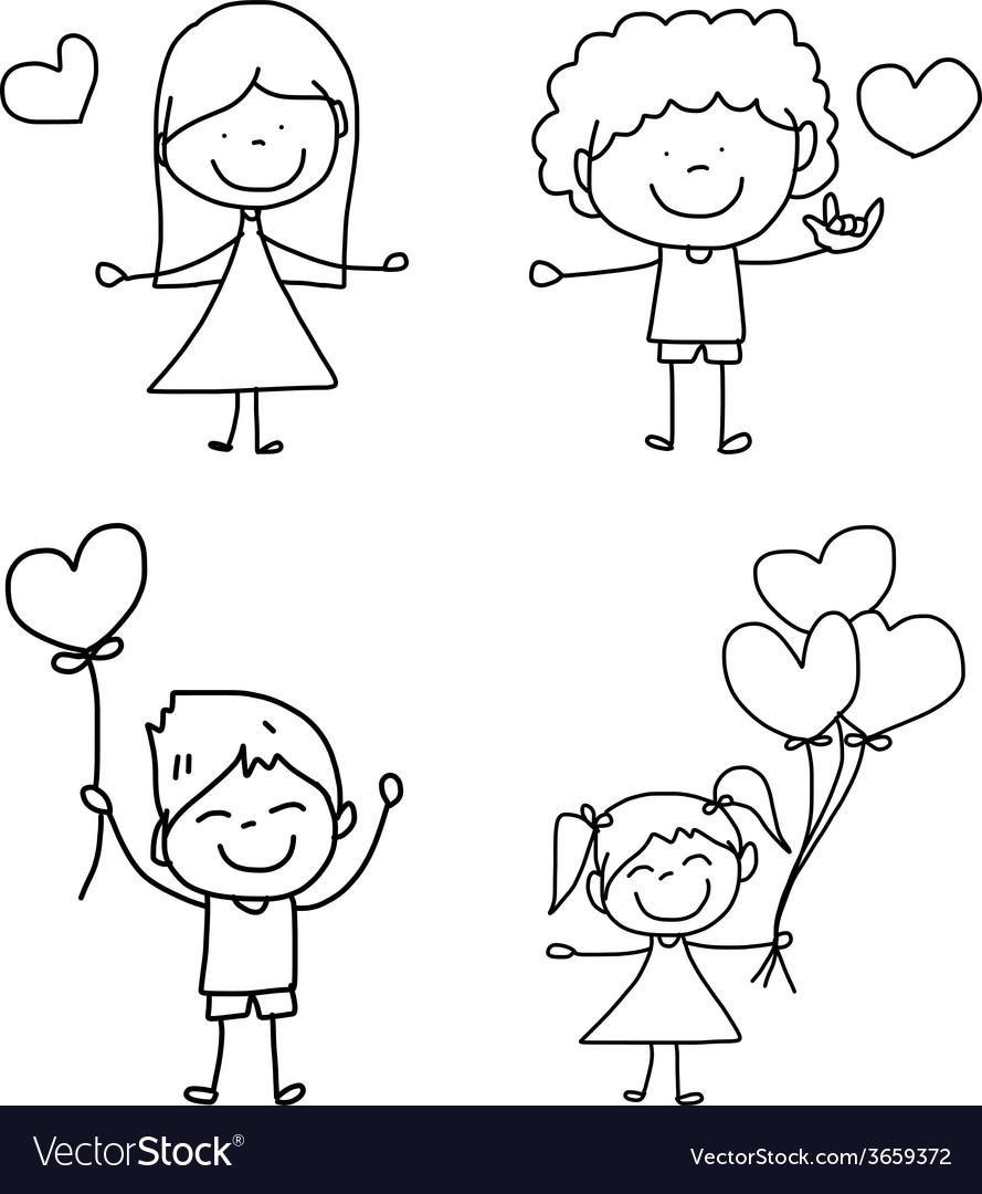 Cartoon hand-drawn love vector | Price: 1 Credit (USD $1)
