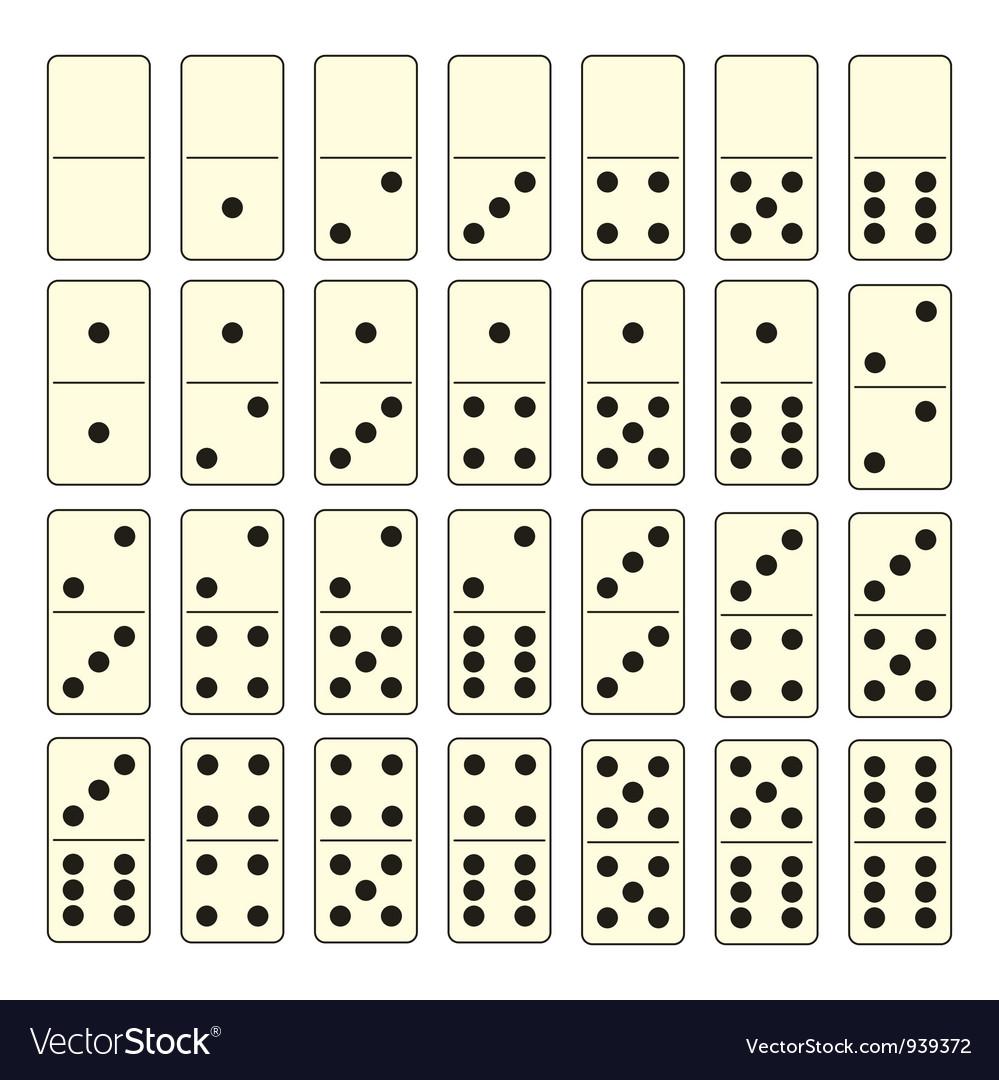 Domino set vector | Price: 1 Credit (USD $1)