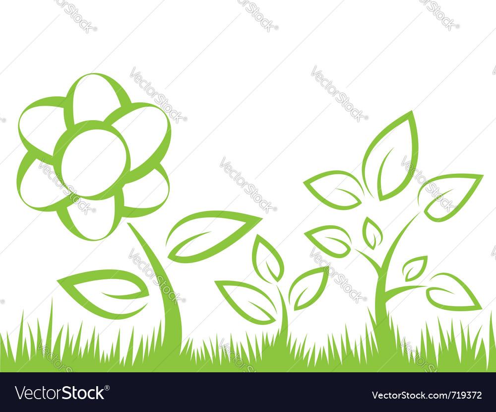 Flower grass vector | Price: 1 Credit (USD $1)