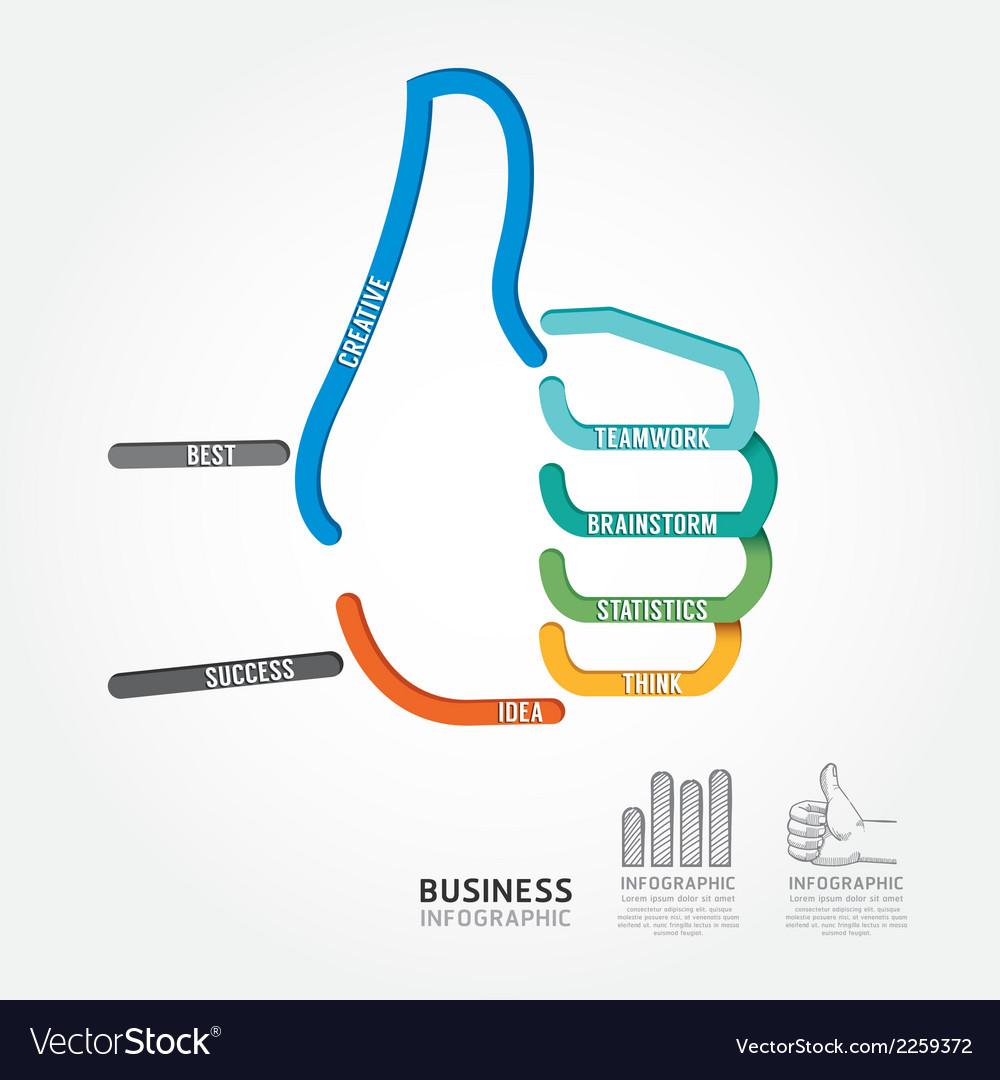 Infographics hand good sign design diagram line vector   Price: 1 Credit (USD $1)