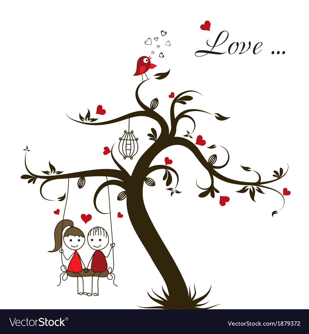 Love story card vector | Price: 1 Credit (USD $1)