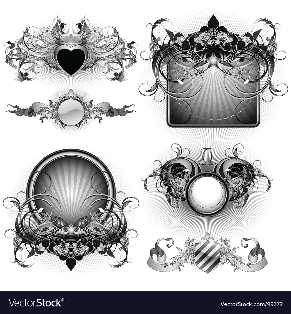 Ornamental shields vector | Price: 3 Credit (USD $3)