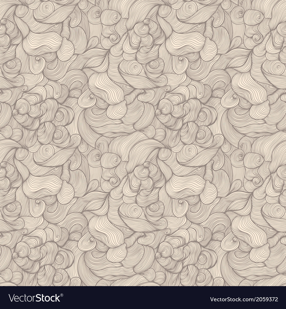 Seamless abstract hand-drawn pattern waves vector | Price: 1 Credit (USD $1)