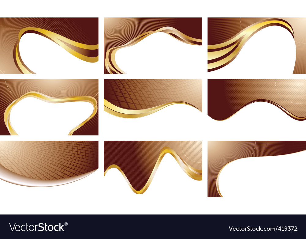 set chocolate backgrounds vector | Price: 1 Credit (USD $1)