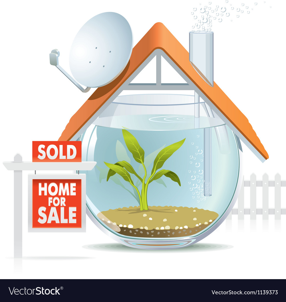 Aquarium home sold vector | Price: 5 Credit (USD $5)