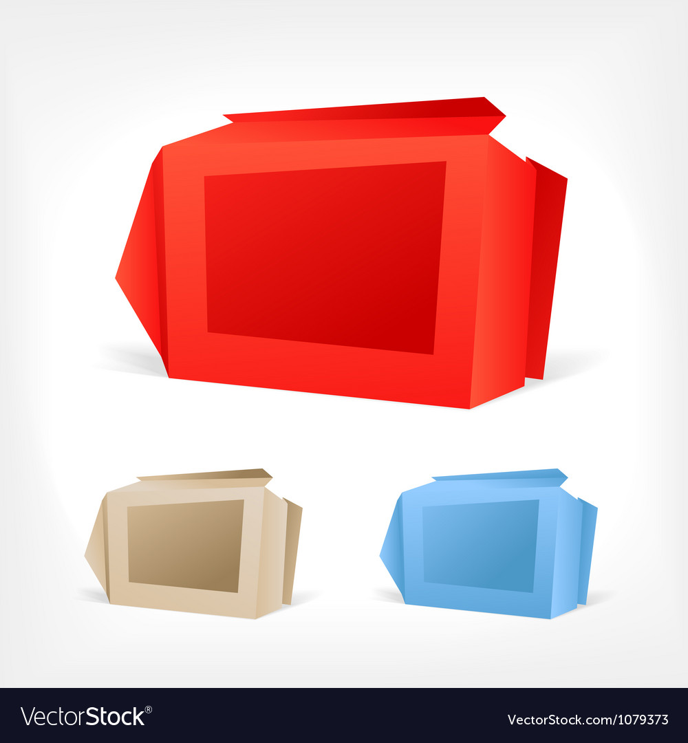 Background of polygonal origami boxes vector | Price: 1 Credit (USD $1)