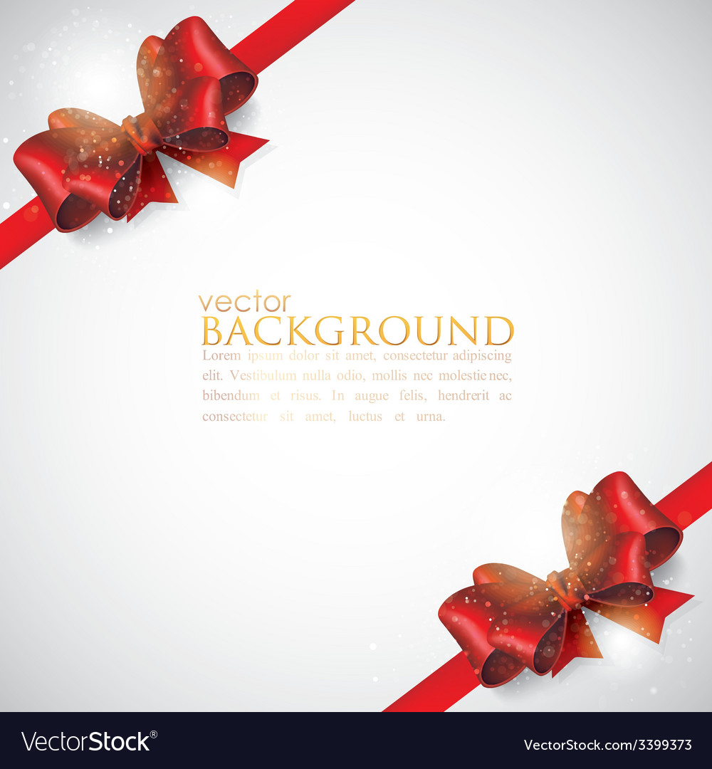 Background with red bows and ribbons vector | Price: 1 Credit (USD $1)