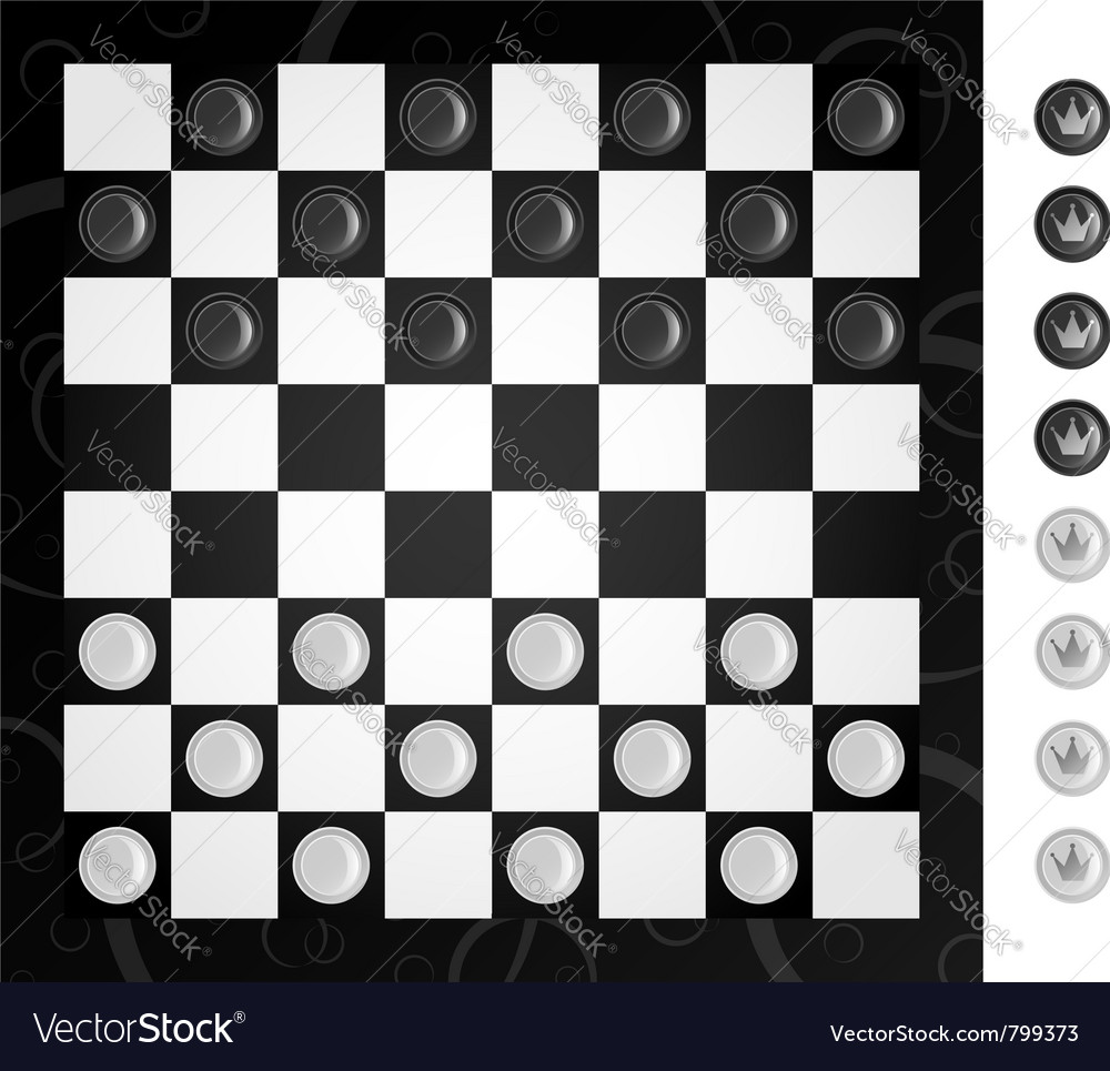 Checkers and board vector | Price: 1 Credit (USD $1)