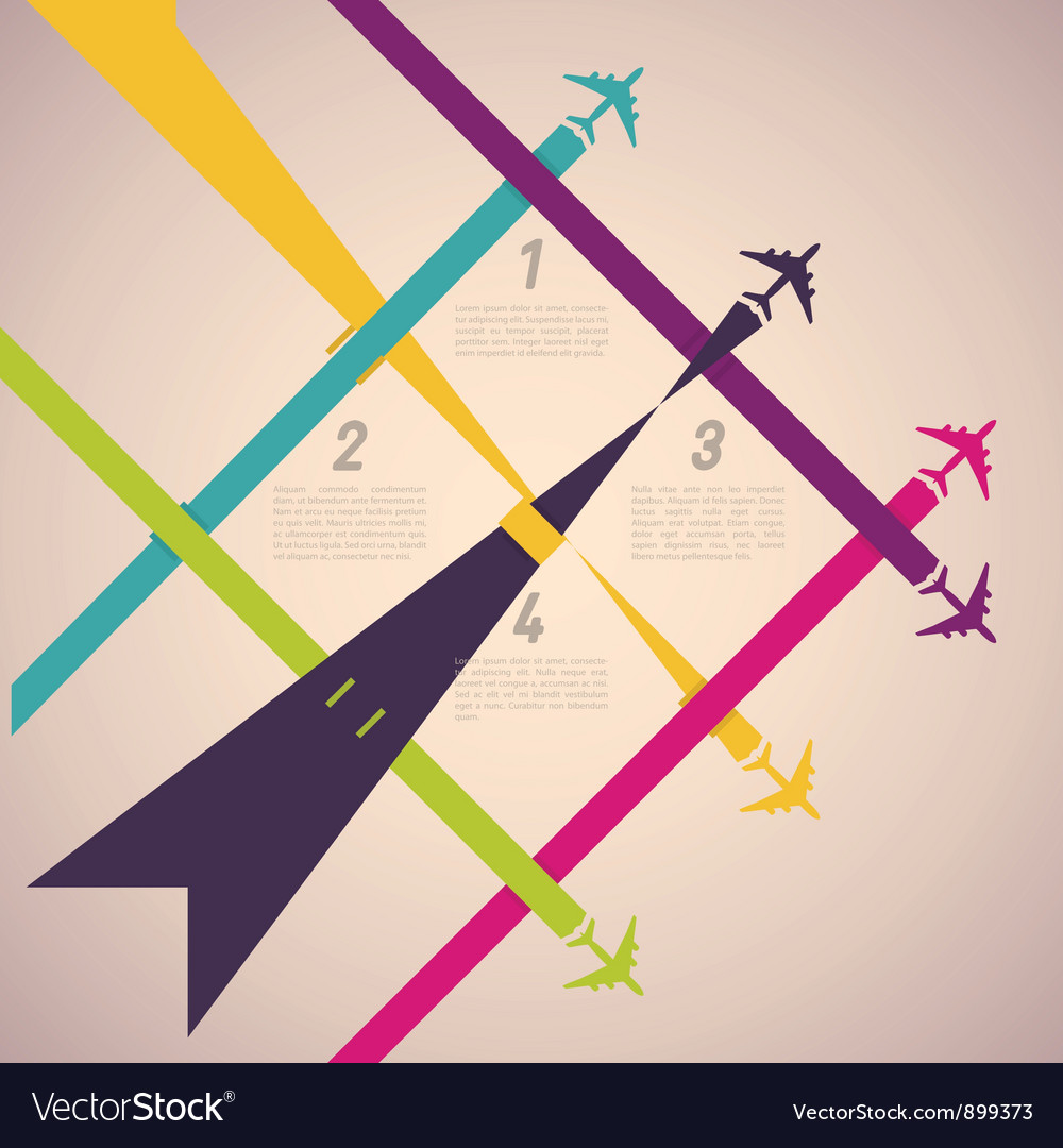 Colorful airplanes vector | Price: 1 Credit (USD $1)