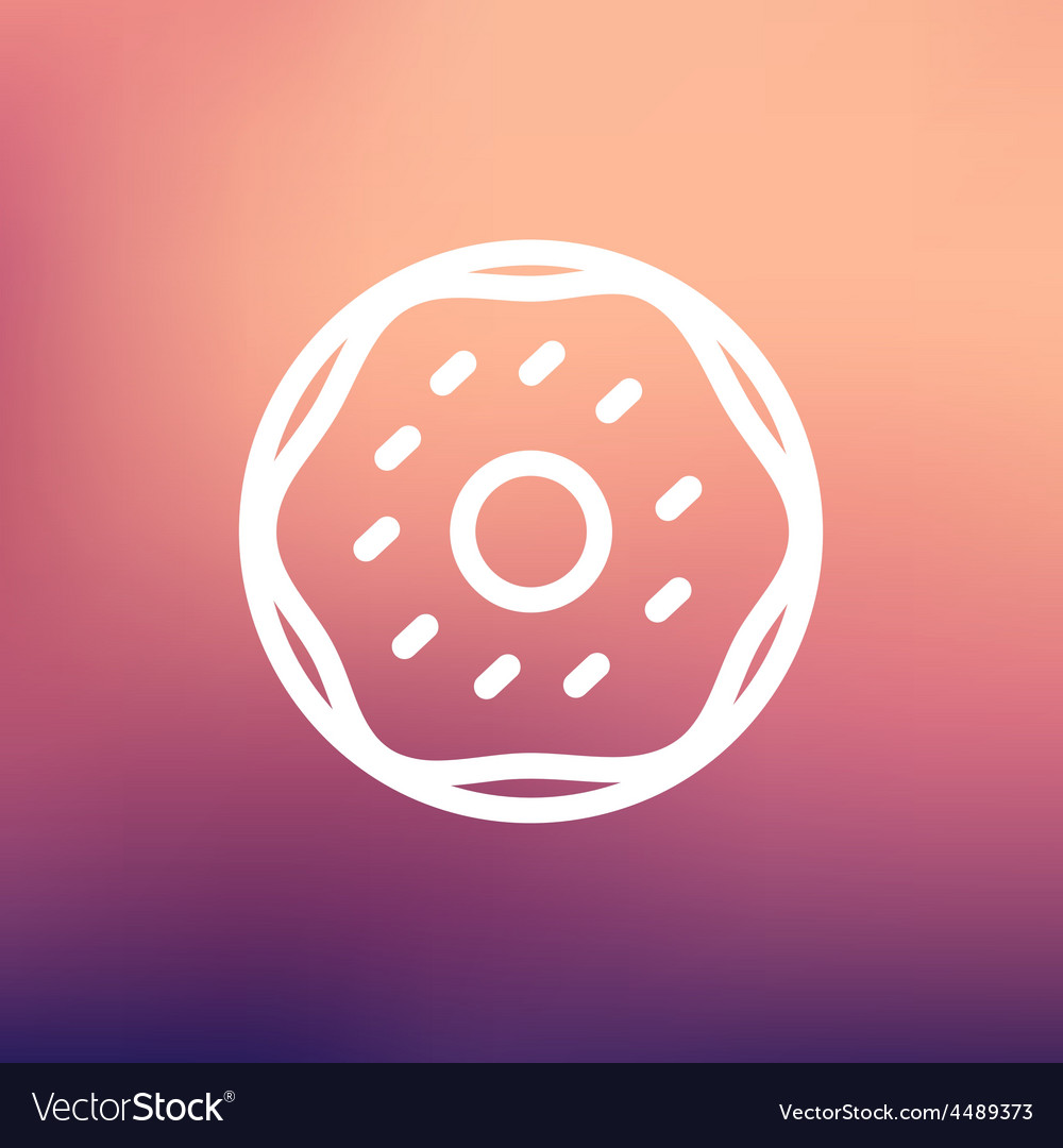 Crispy cookies thin line icon vector | Price: 1 Credit (USD $1)