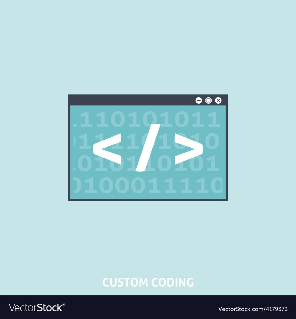 Custom coding vector | Price: 1 Credit (USD $1)