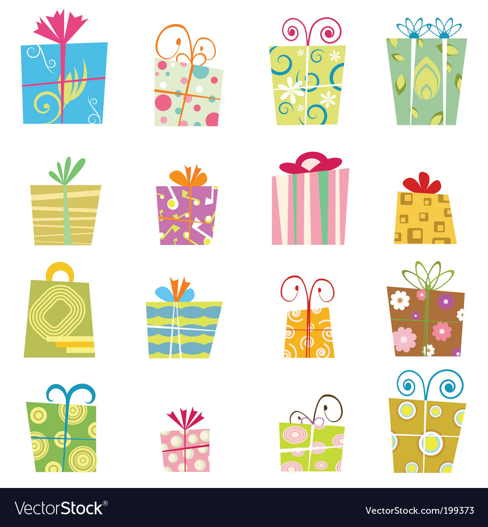 Cute gift boxes vector | Price: 1 Credit (USD $1)