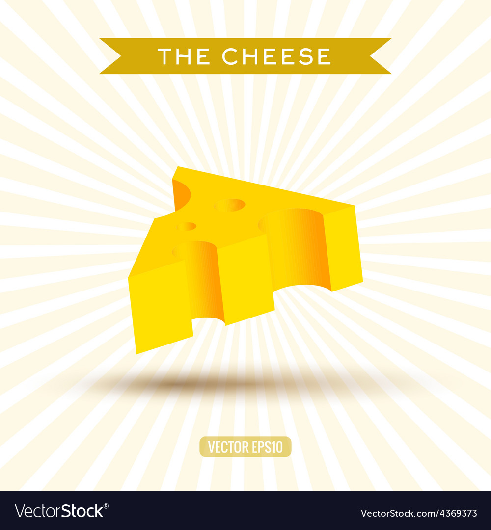 Delicious bulk cheese on a white background with vector | Price: 1 Credit (USD $1)