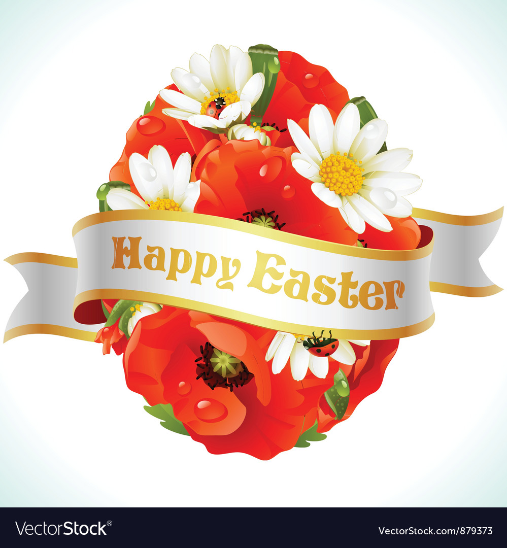 Easter egg from flowers vector | Price: 3 Credit (USD $3)