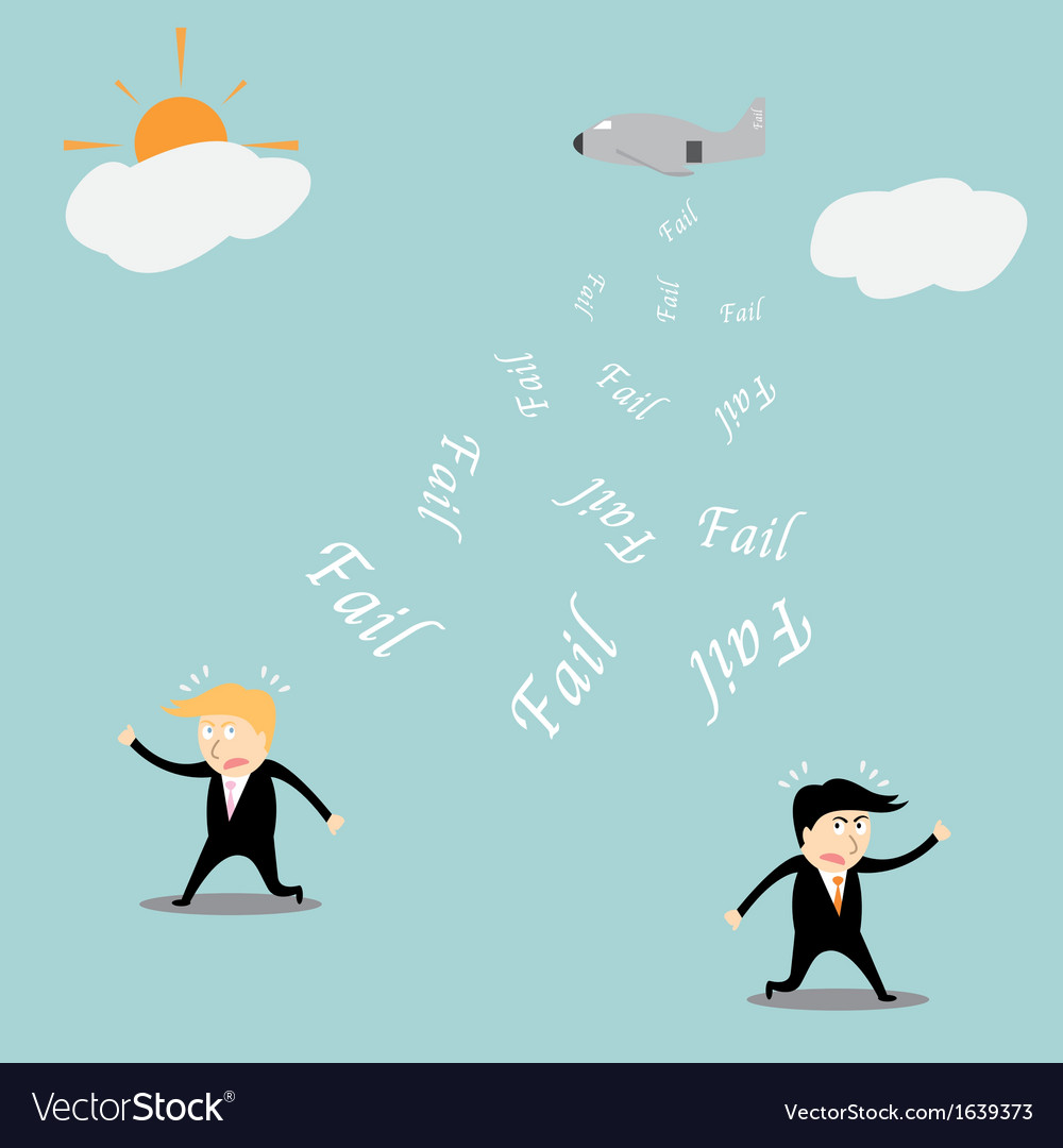 Fail investment cartoon concept vector | Price: 1 Credit (USD $1)