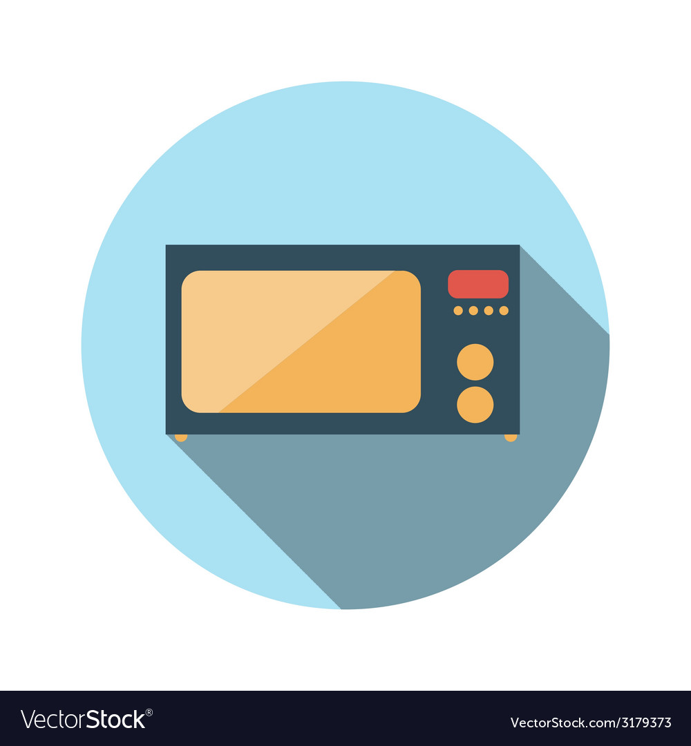 Flat design concept microwave with long shad vector | Price: 1 Credit (USD $1)
