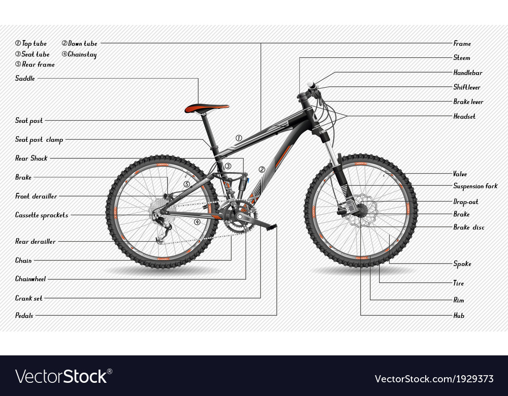 Full suspension mtb scheme vector | Price: 1 Credit (USD $1)