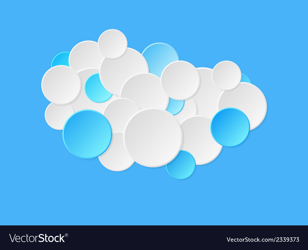 Gradient circles in blue color vector | Price: 1 Credit (USD $1)