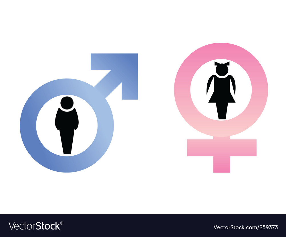 Male and female icons vector | Price: 1 Credit (USD $1)