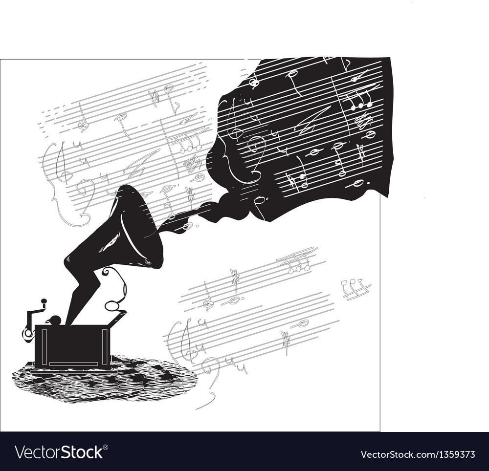 Old phonograph vector | Price: 1 Credit (USD $1)
