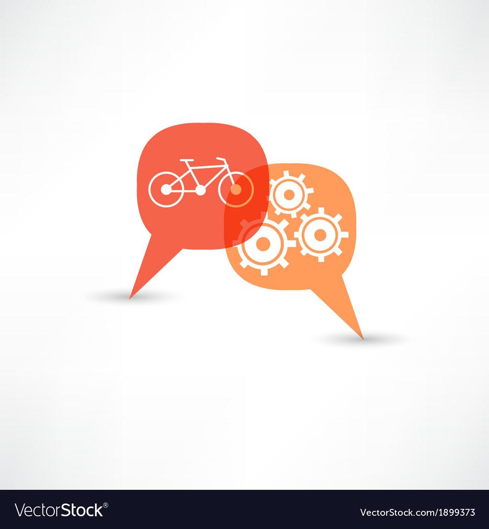 Repair a bicycle vector   Price: 1 Credit (USD $1)