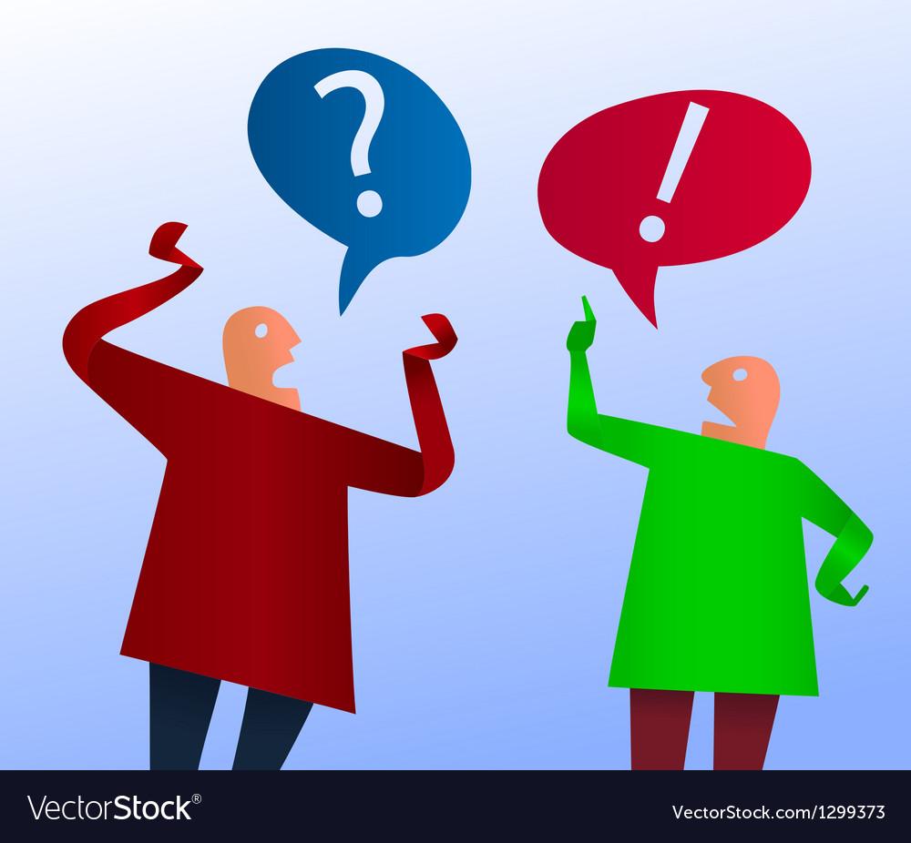 Two men arguing vector | Price: 1 Credit (USD $1)