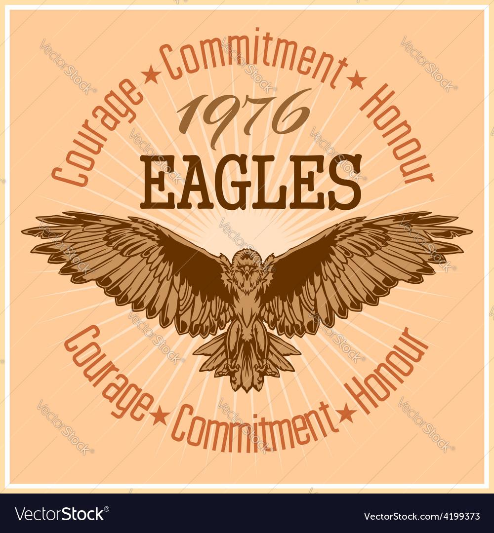 Vintage label eagle - retro emblem vector | Price: 3 Credit (USD $3)