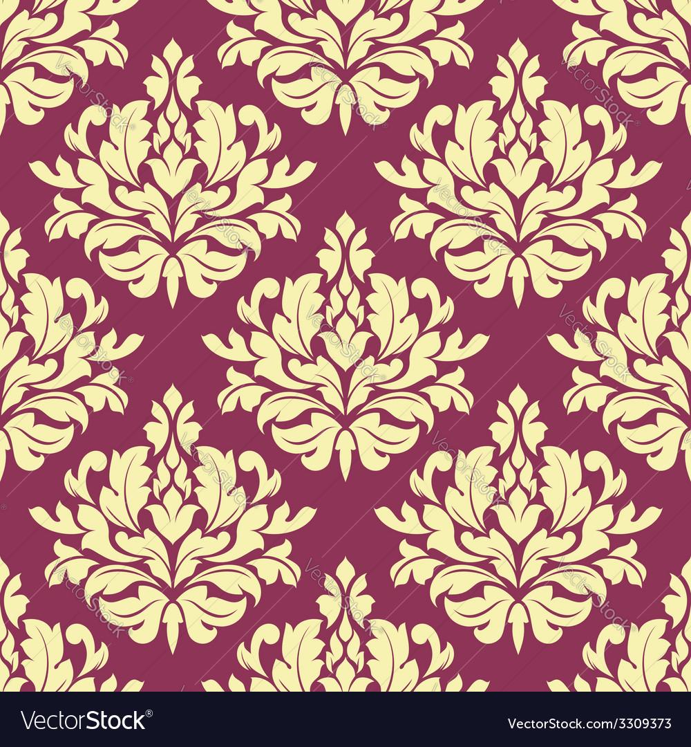 Vintage purple damask design vector | Price: 1 Credit (USD $1)