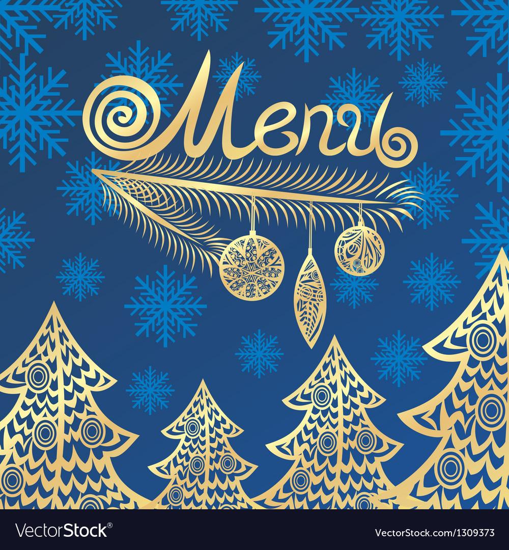 Winter menu vector | Price: 1 Credit (USD $1)