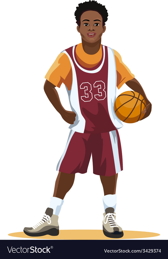 Basketball player in uniform vector | Price: 1 Credit (USD $1)