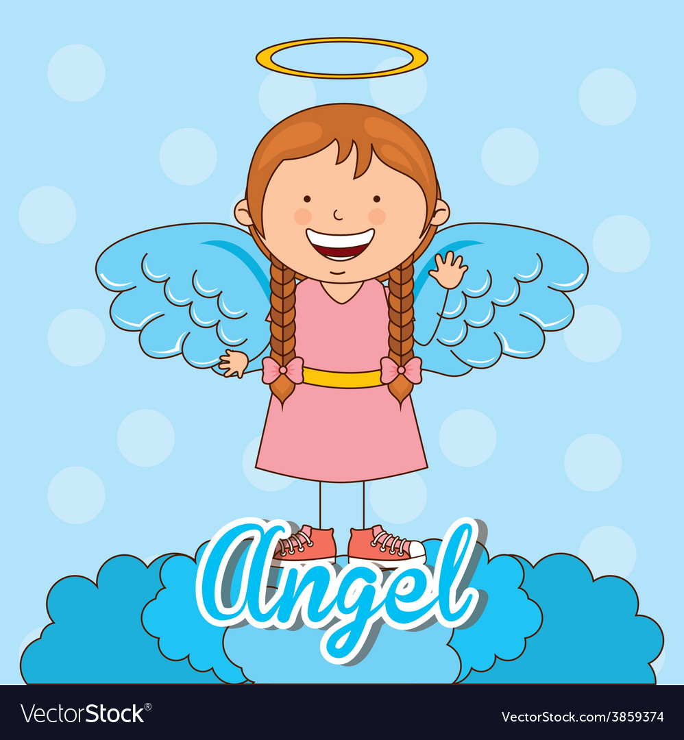Cute angel vector | Price: 1 Credit (USD $1)