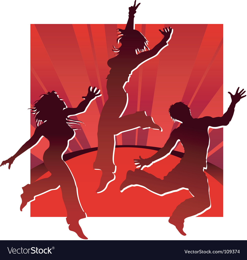 Dancing people vector | Price: 1 Credit (USD $1)