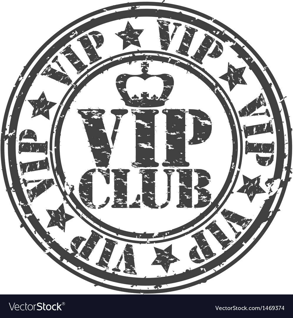 Grunge vip club rubber stamp vector   Price: 1 Credit (USD $1)