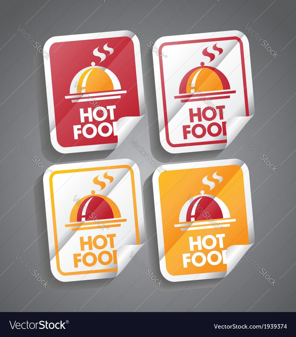 Hot food sticker vector | Price: 1 Credit (USD $1)