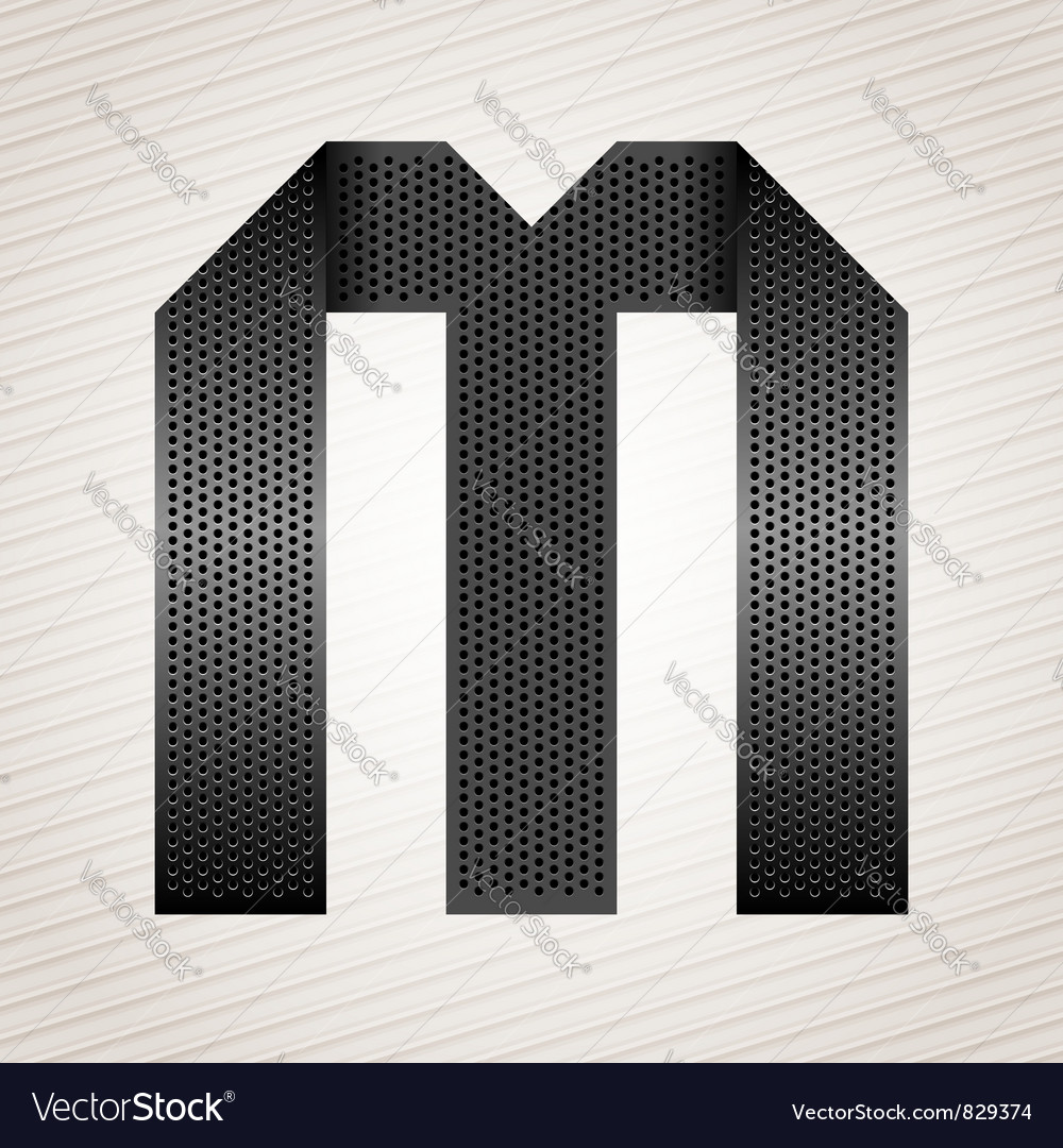 Letter metal ribbon - m vector | Price: 1 Credit (USD $1)