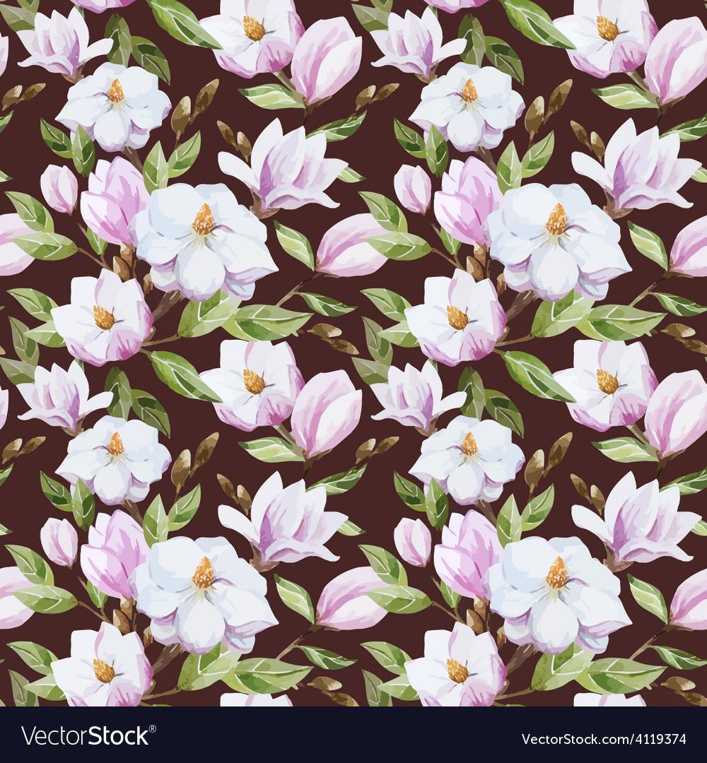 Magnolia pattern vector | Price: 1 Credit (USD $1)