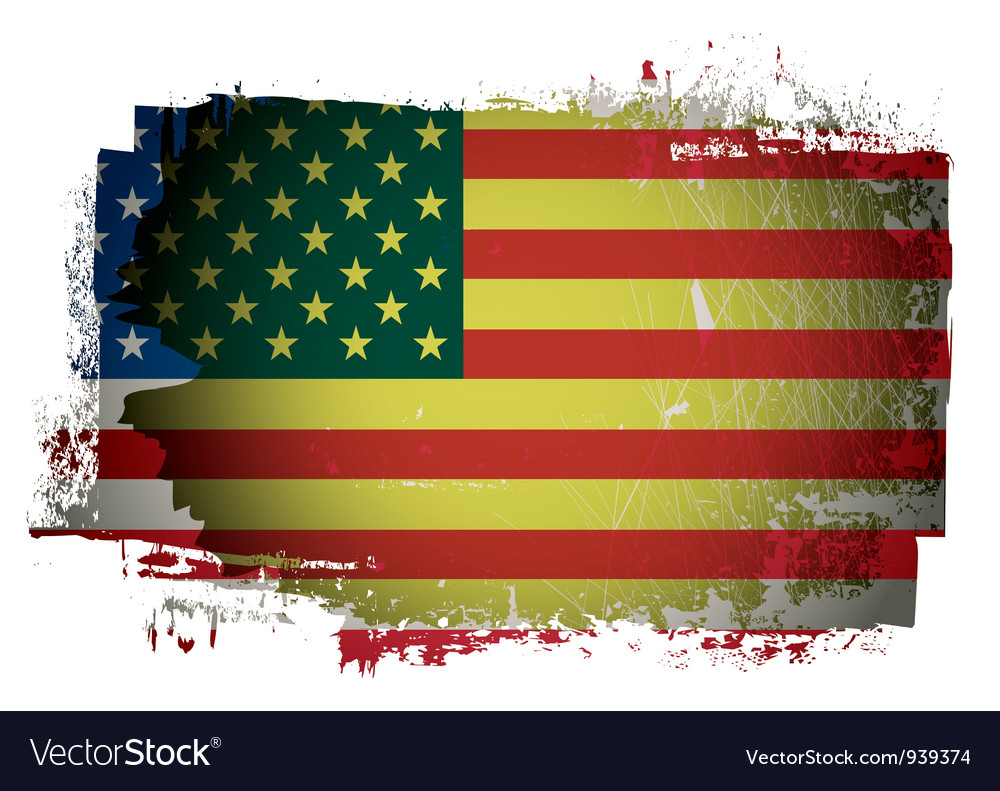 Old american flag vector | Price: 1 Credit (USD $1)