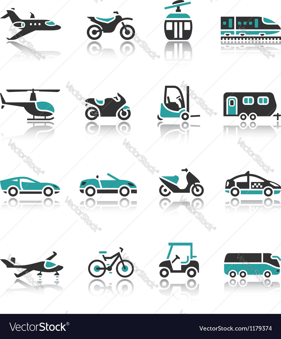 Set of transport icons - two vector | Price: 1 Credit (USD $1)