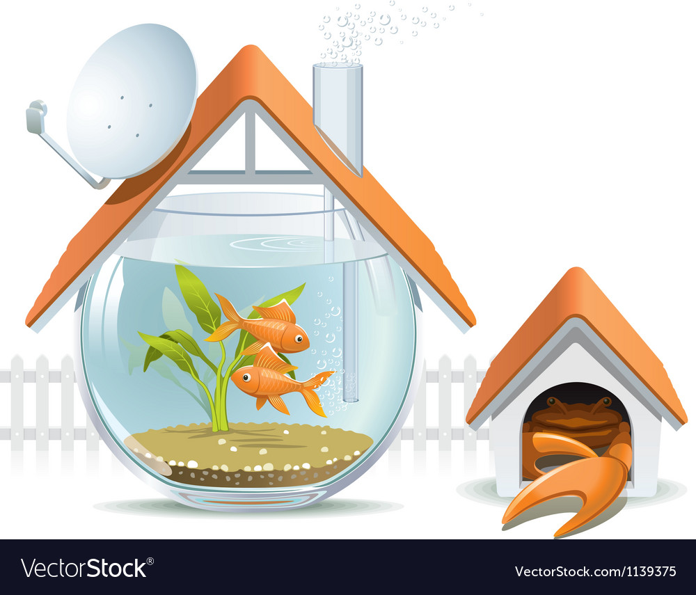 Aquarium home with a guard vector | Price: 5 Credit (USD $5)
